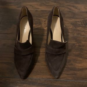 Brown suede dress shoes